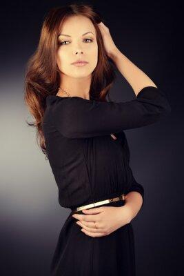 Póster vestido negro