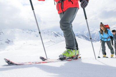 Póster Viaje del esquí en el camino