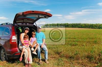 Viaje en coche de la familia