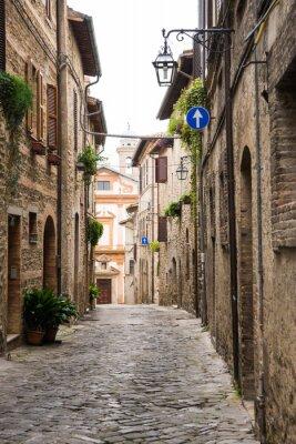 Póster Vicolo romantico en Italia