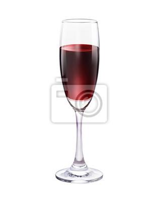Vidrio de vino rojo hermoso aislado en el fondo blanco