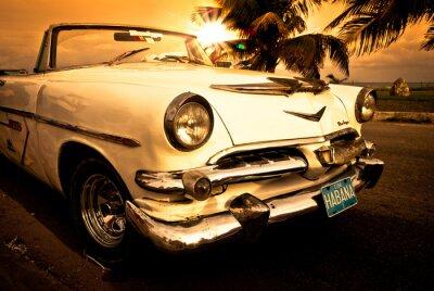 Póster Vieille américaine voiture, Cuba