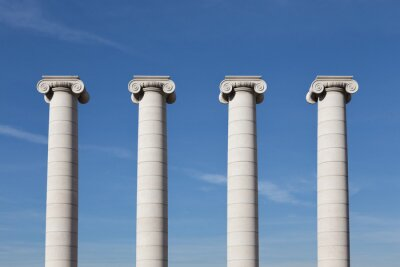 Póster Vier Säulen, Barcelona