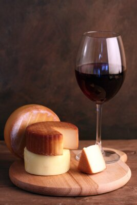 Póster Vino y queso