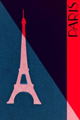 Póster Vintage Paris postal - caligrafía - mano-lettered diseño elemen