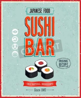 Póster Vintage Sushi Bar Poster.