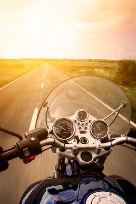 Póster Visión del motociclista