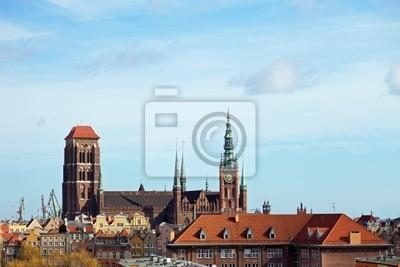 Vista aérea Basílica en Gdansk, Polonia.