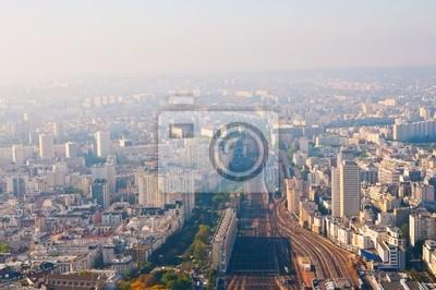 Vista aérea de París de la torre Montparnasse