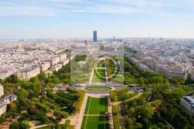 Vista aérea panorámica de París y el Sena, visto desde Eiff