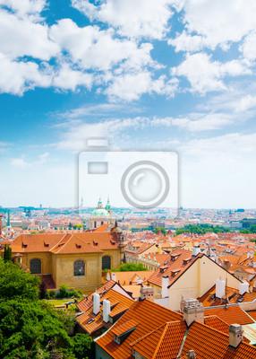 vista de la ciudad de Praga de la colina