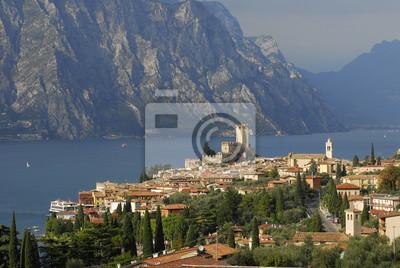 Vista de Malcesine en el lago Garda
