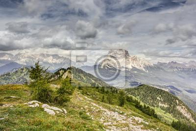 Vista desde el Monte Rite, Dolomitas, Alpes, Italia