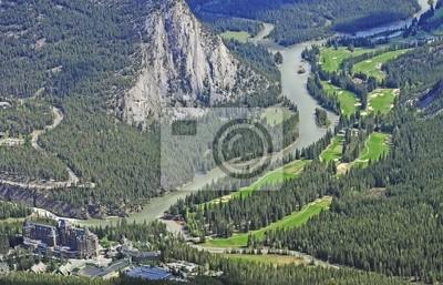 Vista desde la montaña Sulphur. Parque Nacional de Banff.