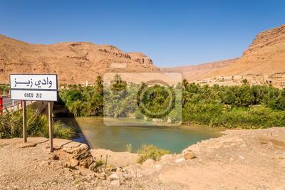 Vista en el oasis de la ciudad Oued Ziz - Marruecos