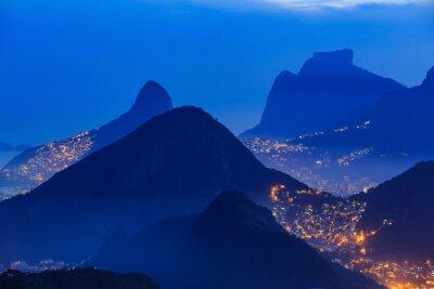 Póster Vista nocturna de Río de Janeiro