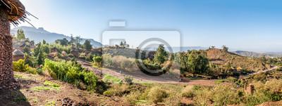 Vista panorámica en el pueblo de Lalibela