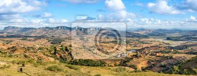 Vista panorámica en la campiña de Madagascar