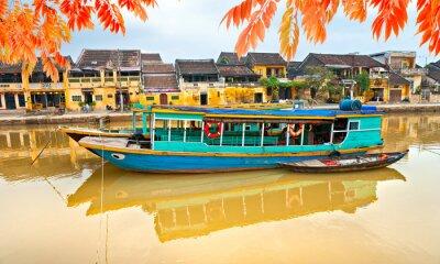 Póster Vista sobre el casco antiguo de Hoi An. Vietnam