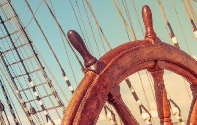 Póster Volante de viejo barco de vela