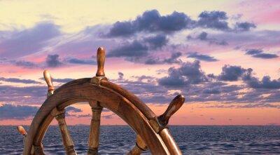 Póster Volante de viejo buque de vela