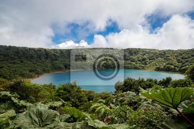 Volcán Poas cráter en Costa Rica, América Central.