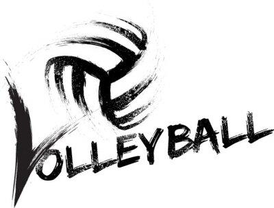 Póster Voleibol Grunge Rayas