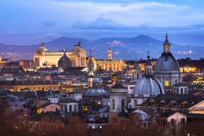 Póster Vue des Toits de Roma