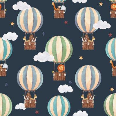 Watercolor air baloon pattern