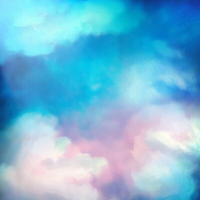 Póster Watercolor Sky Painting Vector Background