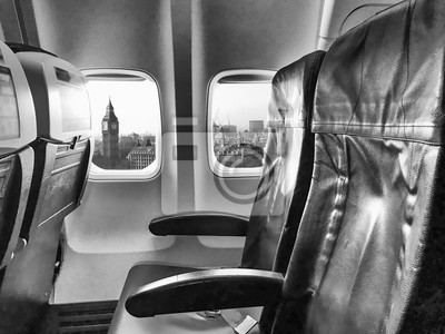 Westminster y Bigben vistos desde un avión
