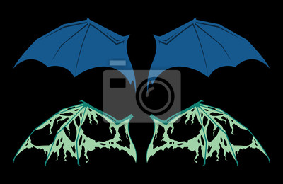 Póster Wings Vector Bat