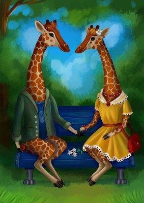 Póster Жираф на свидание