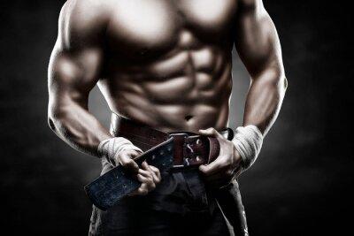 Póster красивое мужское тело