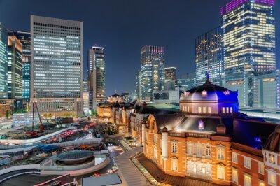 Póster 東京 駅 夜景