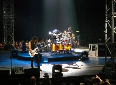 Póster Concierto de la banda â € œMetallicaâ €, Roma, 24 de junio de 2009. La etapa
