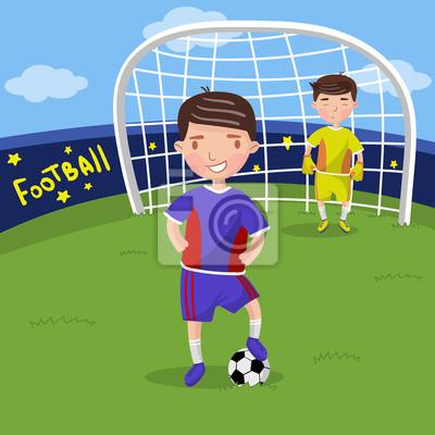 Jugadores De Futbol Ninos Jugando Futbol En La Ilustracion