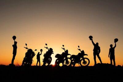 Póster motorsiklet takımı