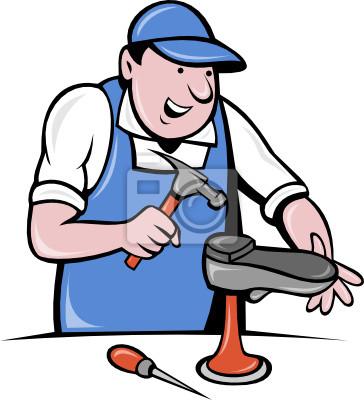 zapatero zapatero de reparación de calzado de trabajo