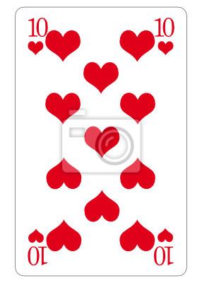 10 corazones abstractos