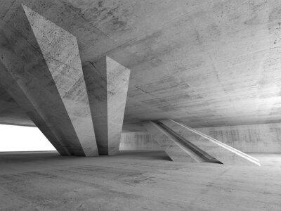 Vinilo 3d abstract empty concrete room interior
