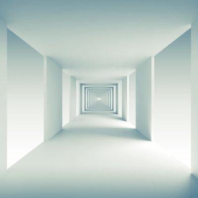 vinilo d fondo abstracto de la perspectiva pasillo vaco