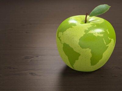 Vinilo 3d manzana Mundial de la Salud