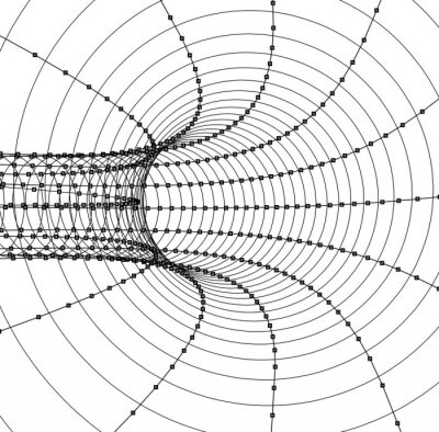 Vinilo 3d resumen túnel o tubo
