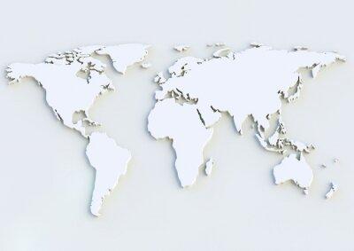 Vinilo 3D World Map - Mapa del mundo 3D