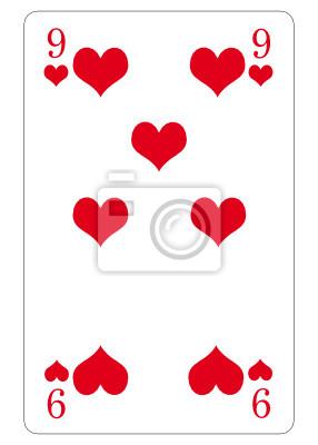 9 de corazones abstracto
