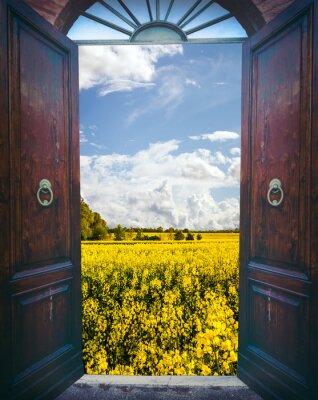 Vinilo Abra la puerta y el paisaje