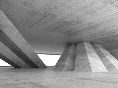 Vinilo Abstract empty concrete interior 3d render
