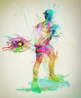 Vinilo Abstract tennis player