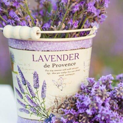 Vinilo accesorios en flores de lavanda